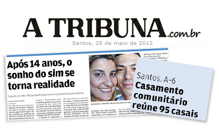 Casamento Comunitário – Jornal A Tribuna
