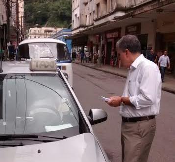 Vereador quer incentivar o uso de táxi em Santos
